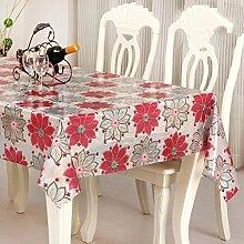 Europäische Tischdecke Einfache Stoff Tischdecke Wasserdichte Öl Tabelle Flagge kann gewaschen werden Tischdecke Tisch Matten ( Farbe : A , größe : 137*240CM )