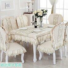 Europäische Tischdecke/Einfachen Stil Esszimmer Tischdecke/Tee Tischdecke-E Durchmesser180cm(71inch)