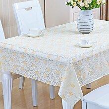 Europäische Tischdecke Nappes En Plastique PVC Nappes De Tisch Nappes Imperméables Anti - Hot - Öl - Laver Les Nappes ( Farbe : B , größe : 50*50cm )