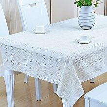 Europäische Tischdecke Nappes En Plastique PVC Nappes De Tisch Nappes Imperméables Anti - Hot - Öl - Laver Les Nappes ( Farbe : A , größe : 110*170CM )
