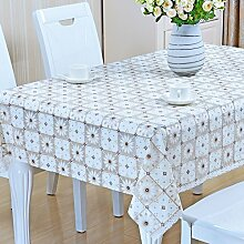 Europäische Tischdecke Nappes En Plastique PVC Nappes De Tisch Nappes Imperméables Anti - Hot - Öl - Laver Les Nappes ( Farbe : B , größe : 90*90cm )