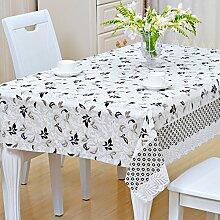 Europäische Tischdecke Nappes En Plastique PVC Nappes De Tisch Nappes Imperméables Anti - Hot - Öl - Laver Les Nappes ( Farbe : A , größe : 137*200CM )