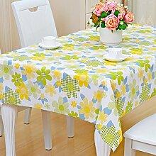 Europäische Tischdecke Nappes En Plastique PVC Nappes De Tisch Nappes Imperméables Anti - Hot - Öl - Laver Les Nappes ( Farbe : C , größe : 120*170CM )