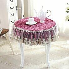 Europäische Tischdecke Runde Tischdecke, Glas