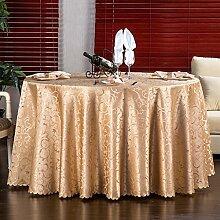 Europäische Tischdecke Runde Tischdecke Hochzeit
