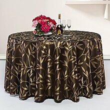 Europäische Tischdecke Runde Tischdecke, Hotel Restaurant große runde Tisch Tischdecke Couchtisch Bankett Hochzeit Tischdecke ( Farbe : B , größe : Round-200cm )
