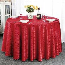 Europäische Tischdecke Runde Tischdecke, Hotel Tischdecke Bankett Tischdecke Hochzeit runde Tisch Tischdecke Restaurant Stoff runde Tischdecke ( Farbe : C , größe : Round-180cm )