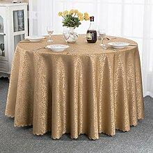 Europäische Tischdecke Runde Tischdecke, Hotel Tischdecke Bankett Tischdecke Hochzeit runde Tisch Tischdecke Restaurant Stoff runde Tischdecke ( Farbe : E , größe : Round-160cm )