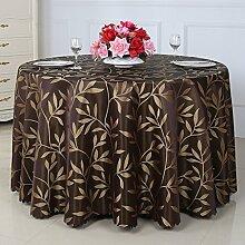 Europäische Tischdecke Runde Tischdecke, Hotel Weide Tuch runde Tisch Tischdecke ländliche Tischdecke Couchtisch Tuch ( Farbe : C , größe : Round-260cm )