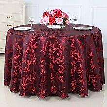 Europäische Tischdecke Runde Tischdecke, Hotel Weide Tuch runde Tisch Tischdecke ländliche Tischdecke Couchtisch Tuch ( Farbe : B , größe : Round-300cm )