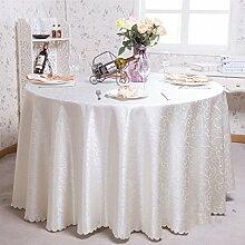Europäische Tischdecke Runde Tischdecken, Hotel Tuch Restaurant Home Kaffeetisch runde Tisch Tischdecke ( Farbe : C , größe : Round 200cm )