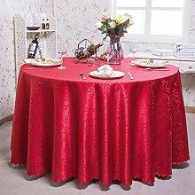 Europäische Tischdecke Runde Tischdecken, Hotel Tuch Restaurant Home Kaffeetisch runde Tisch Tischdecke ( Farbe : A , größe : Round 200cm )