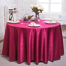 Europäische Tischdecke Runde Tischdecken, Hotel Tuch Restaurant Home Kaffeetisch runde Tisch Tischdecke ( Farbe : A , größe : Round 220cm )