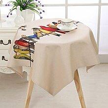 Europäische Tischdecke Square Tischdecke, Leinen