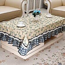 Europäische Tischdecke Tisch Tischdecke Tischdecke Tisch Tischdecke Tischdecke Kleine Blumendecke Stoff ( Farbe : G , größe : 130*180cm )