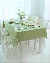 Europäische Tischdecke Tischdecke Rectangle, Ländlich Solid Color Lattice Wohnzimmer Tuch Tischdecke Couchtisch Kleine runde Tisch Tischdecke ( Farbe : Grün , größe : 140*240CM )