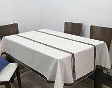 Europäische Tischdecke Tischtuch Tischfahne Konferenz Tisch Tuch Tuch Kaffeetisch Tisch Büro Tischtuch Rechteckige Farbe Imitation ( Farbe : B , größe : 140*160cm )