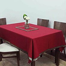 Europäische Tischdecke Tischtuch Tischfahne Konferenz Tisch Tuch Tuch Kaffeetisch Tisch Büro Tischtuch Rechteckige Farbe Imitation ( Farbe : D , größe : 85*85cm )