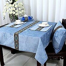Europäische Tischdecke/Tischtuch/Untersetzer/Quadratische Tischdecken-U 140x220cm(55x87inch)