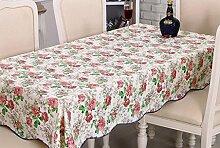Europäische Tischdecke Tischtuch wasserdicht und ölbeständig Gewebe Einweg Plastik Tischdecke PVC Tischplatte Tisch Tuch Öl ( größe : 152*152cm )