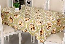 Europäische Tischdecke Tischtuch wasserdicht und ölbeständig Gewebe Einweg Plastik Tischdecke PVC Tischplatte Tisch Tuch Öl ( größe : 137*137cm )