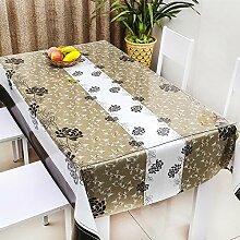 Europäische Tischdecke Wasserdichte Tischdecke PVC Tischdecken nicht waschen Tisch Matten Kaffeetisch Tuch Tisch Tee Tischdecke Kunststoff Tuch ( Farbe : C , größe : 137*220cm )