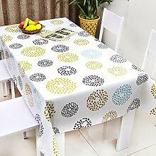 Europäische Tischdecke Wasserdichte Tischdecke PVC Tischdecken Nicht waschen Tischmatten Kaffee Tischdecke Tisch Tee Tischtuch Kunststofftuch ( Farbe : A , größe : 137*200cm )
