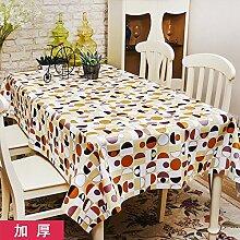 Europäische Tischdecke Wasserdichte Tischdecke PVC Tischdecken Nicht waschen Tischmatten Kaffeetisch Tisch Tisch Tisch Tisch Tisch Plüsch Stoff ( Farbe : A , größe : 137*200cm )