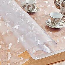 Europäische Tischdecke Weiche Glas Tischdecken Transparente PVC Wasserdicht Anti - Hot - Öl - Free Waschbare Tischdecken Tischdecken Wasserdichte Tisch Matten ( größe : 90*160cm )