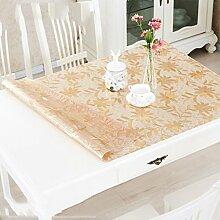 Europäische Tischdecke Weiche Glas Tischdecken Transparente PVC Wasserdicht Anti - Hot - Öl - Free Waschbare Tischdecken Tischdecken Wasserdichte Tisch Matten ( größe : 90*90cm )
