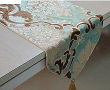 Europäische Tischfahne/Luxus langen Tischdecke/Coffee Table Tischläufer/Tischdecke decke/TV-Schrank gepolsterte Abdeckung Handtuch/modernen westlichen Flag-B 34x200cm(13x79inch)