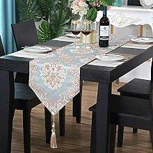 Europäische Tischläufer, Chenillegewebes,