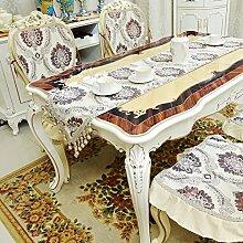 Europäische Tischläufer Moderne Einfach Anti-rutsch-tischdecke Couchtisch Mahlzeit Tv-schrank Tischläufer Bett-runner-B 35x180cm(14x71inch)
