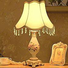 Europäische Tischleuchte/Schlafzimmer Bett Lampe/Kreative,Retro,Wohnzimmer-ehe,Bedside-tischleuchten-K
