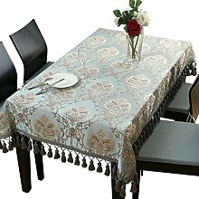 Europäische Tischtischdecke, Stoff rechteckiges Wohnzimmer Tisch Tischdecke, quadratische Tischdecke, runder Tisch , #1 , 90*140cm