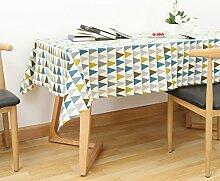 Europäische trieckige tischtuch Wohnzimmer arbeitszimmer garten baumwolle bettwäsche kaffee tisch Tischtuch-A 140x300cm(55x118inch)