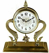 Europäische Uhren Metall Retro-Uhr Wohnzimmer