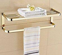 Europäische Voll Kupfer Handtuchhalter Handtuch Handtuch Doppel Handtuchhalter Wc Badezimmer Badezimmer Kleiderbügel Kleiderbügel