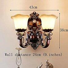 Europäische Wandlampe Wohnzimmerlampe Luxus Retro