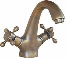 Europäische Wasserhahn bad Armatur alle Kupfer Wasserhahn Wasserhahn Waschtisch Armatur Waschbecken antike
