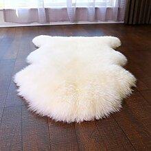 Europäische Wolle Schaffell Teppich Fluffy Area