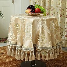Europäischen Luxus-gartenparty-tapete,Runder Tisch Tuch Tischdecke Tee Tuch,Tabelle Tuch Stoff Tischläufer-D 90x90cm(35x35inch)