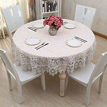 Europäischen Luxus weißen Spitzen Tischdecke/