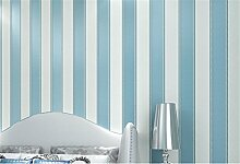 Europäischen Moderne minimalistische Country Luxus Streifen Tapete Rolle für Wohnzimmer Schlafzimmer TV Hintergrund Wand 0,53m (52,8cm) * 10Mio. (32,8') M = 5.3sqm (M³), himmelblau, 0.53M*10M