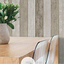 Europäischen Retro - Imitation Holz Korn Vlies Tapete Home Decor Wallpaper , 6