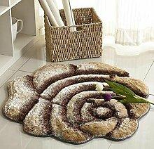 Europäischen Stil 3D Rose runden Teppich, Wohnzimmer Schlafzimmer Teppich, Drehstuhl Korb Computer Stuhl Matten , 7 , diameter 160cm