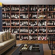 Europäischen stil 3d tapete moderne rotwein