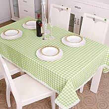 Europäischen Stil Garten Tischdecke Wasserdicht Und Verdickung Grün Und Erfrischende Plaid Tuch Tischdecke T