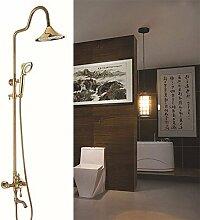 Europäischen stil gold Dusche Dusche, voll Kupfer