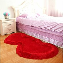 Europäischen Stil Lovely Heart-förmigen Teppich Schlafzimmer Bedside Carpet Comfortable Soft ( farbe : #12 , größe : 0.8*1.6m )